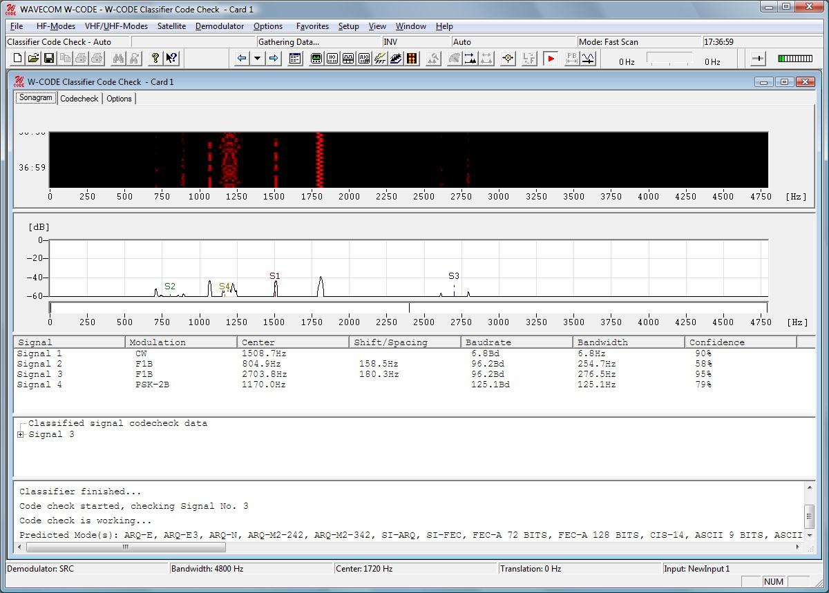 W-CODE - WAVECOM professional HF/VHF/UHF decoder